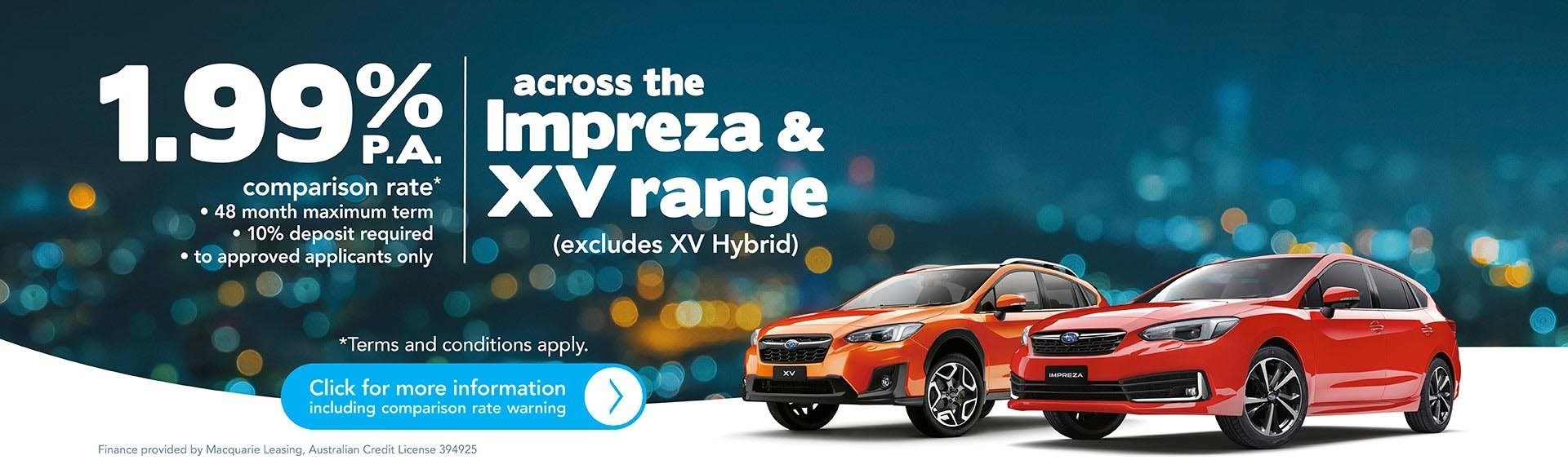 Subaru Penrith - Impreza & XV Range Finance Offer