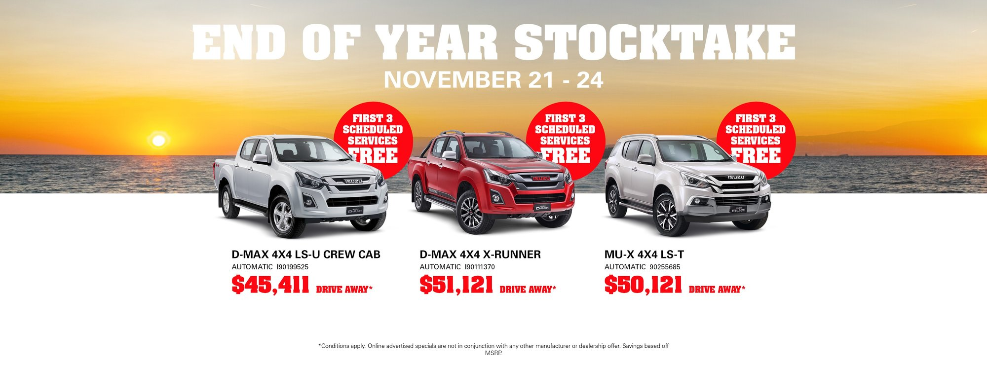 END OF YEAR STOCK CLEARANCE