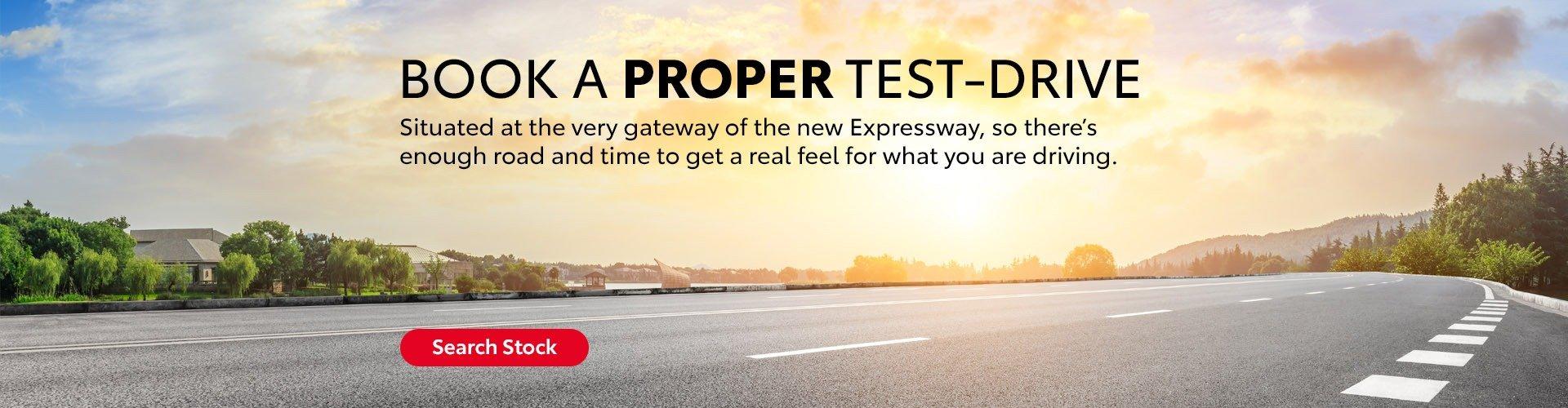 Book a PROPER Test Drive