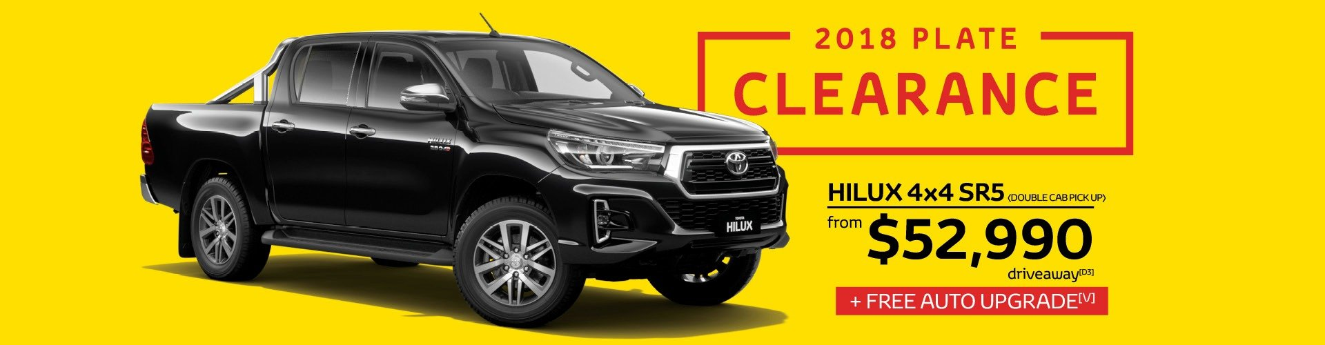 Waverley Toyota's 2018 Plate Clearance now on