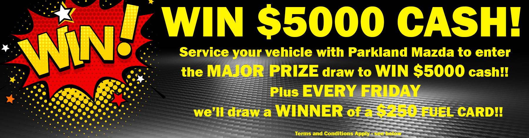 Service to Win at Parkland Mazda