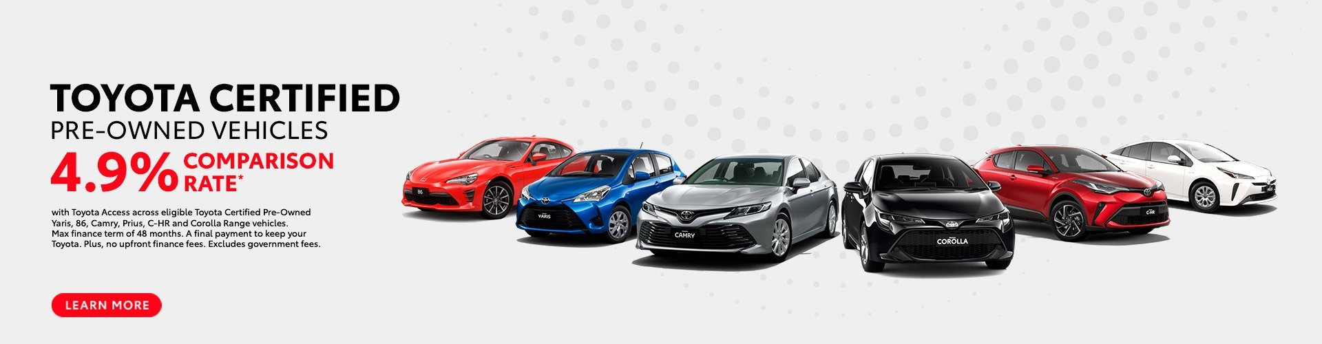 Traralgon Toyota - Certified Pre-Owned Vehicle 4.9% Finance Offer
