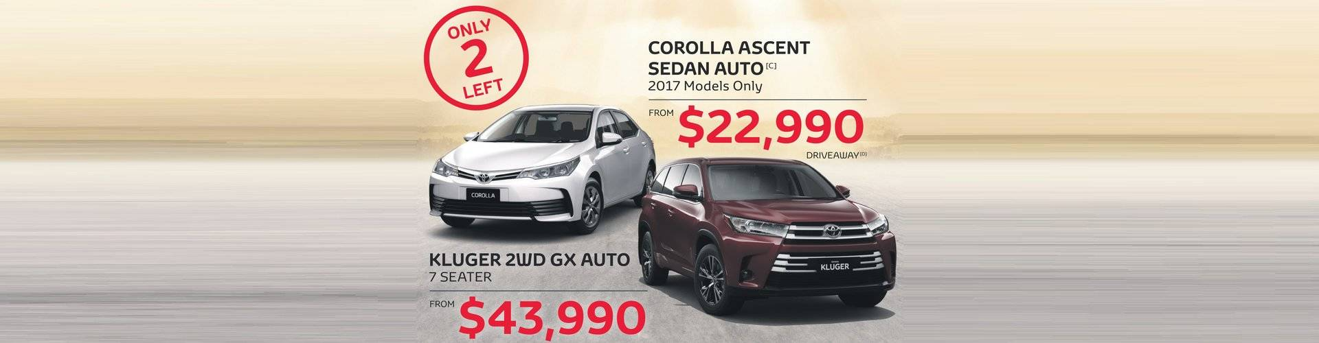 Waverley Toyota Great Value on Corolla and Kluger