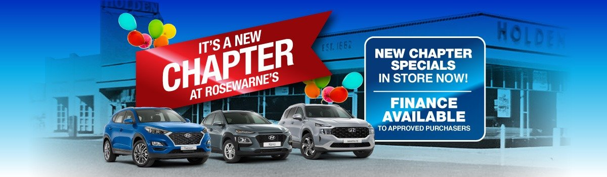 Rosewarne's Hyundai   It's A New Chapter At Rosewarne's Large Image
