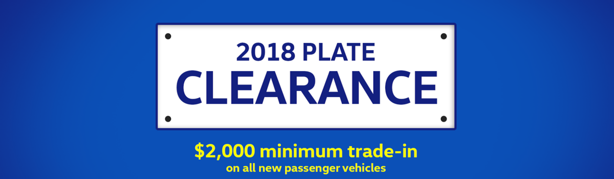 2018 PLATE CLEARANCE Large Image