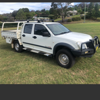 2004 Holden Rodeo with steel tray Small Image