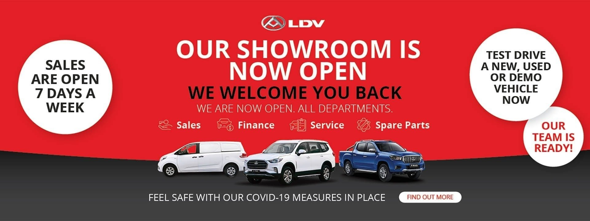 Our Showroom is Now Open - Werribee LDV