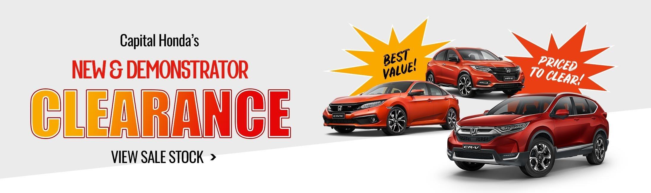 Capital Honda Clearance Sale