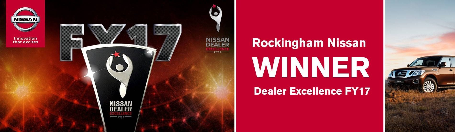 Rockingham Nissan Dealer Excellence Award