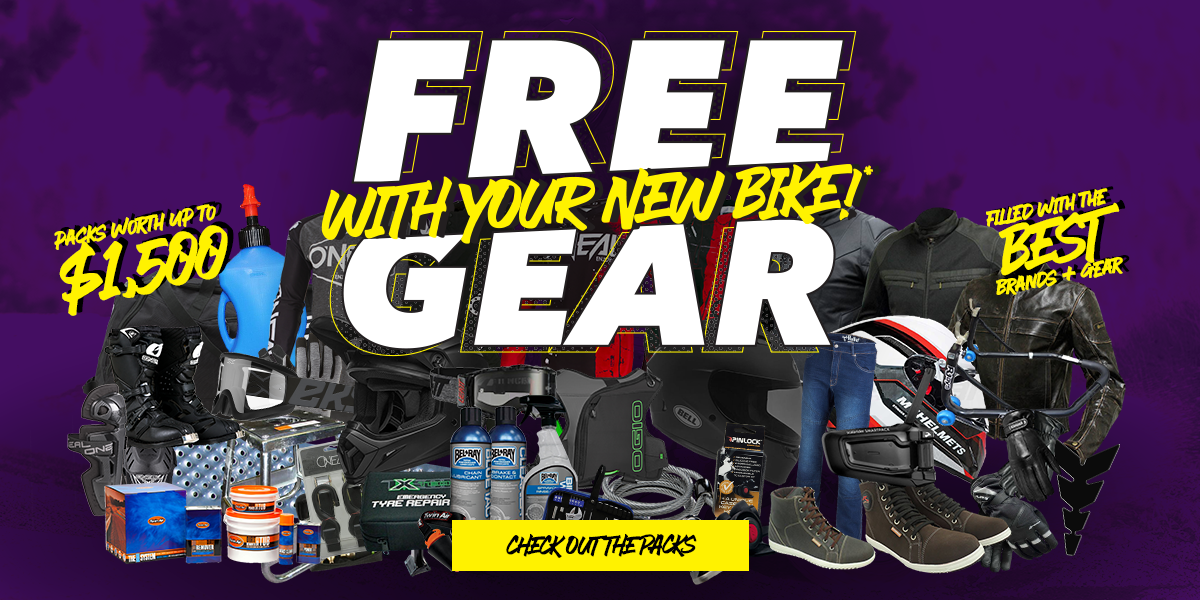 blog large image - FREE GEAR With Your New Bike @ TeamMoto