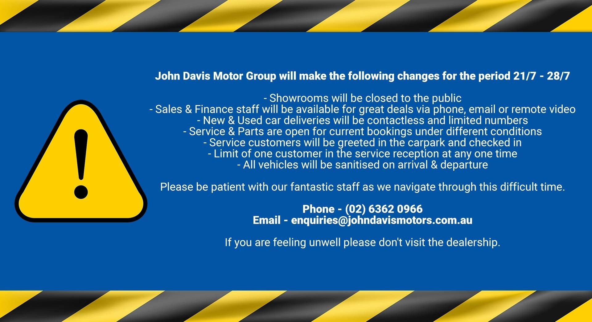 John Davis - COVID Update