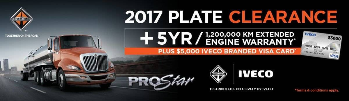 IVECO offers big tempters on 2017-plated INTERNATIONAL® ProStar® stock Large Image