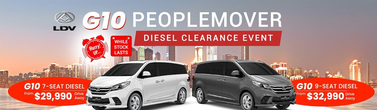 MY19 LDV G10 7 & 9 Seater People Mover Clearance  Large Image