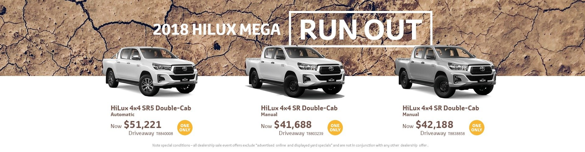 cardiff toyota hilux run out