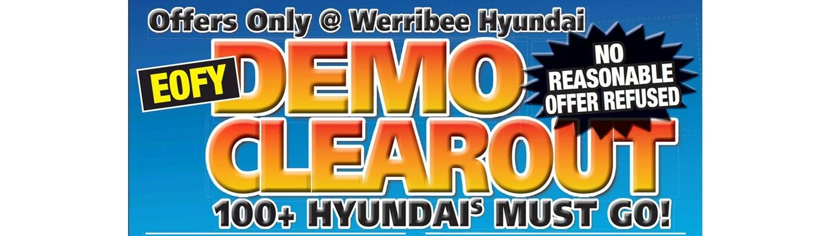Werribee Hyundai Demo Clearance