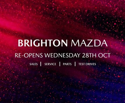 Brighton Mazda is from October 28th! image