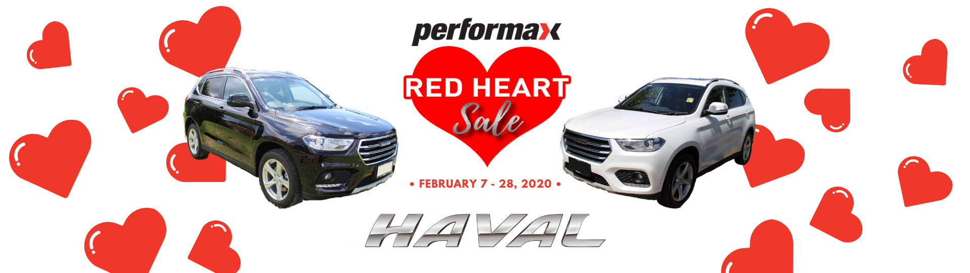 Performax Haval Red Hear Sale banner