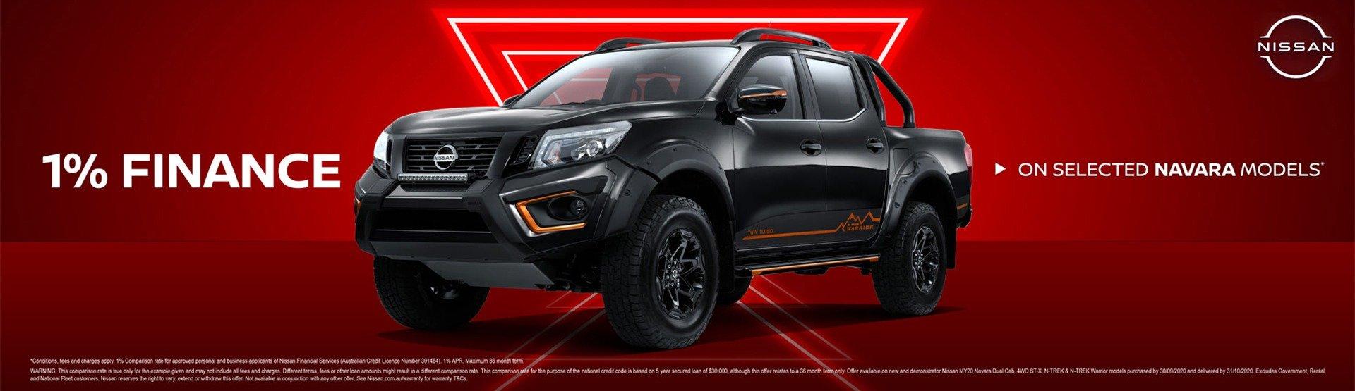 ParryNQ Nissan - 1% Navara Finance offer