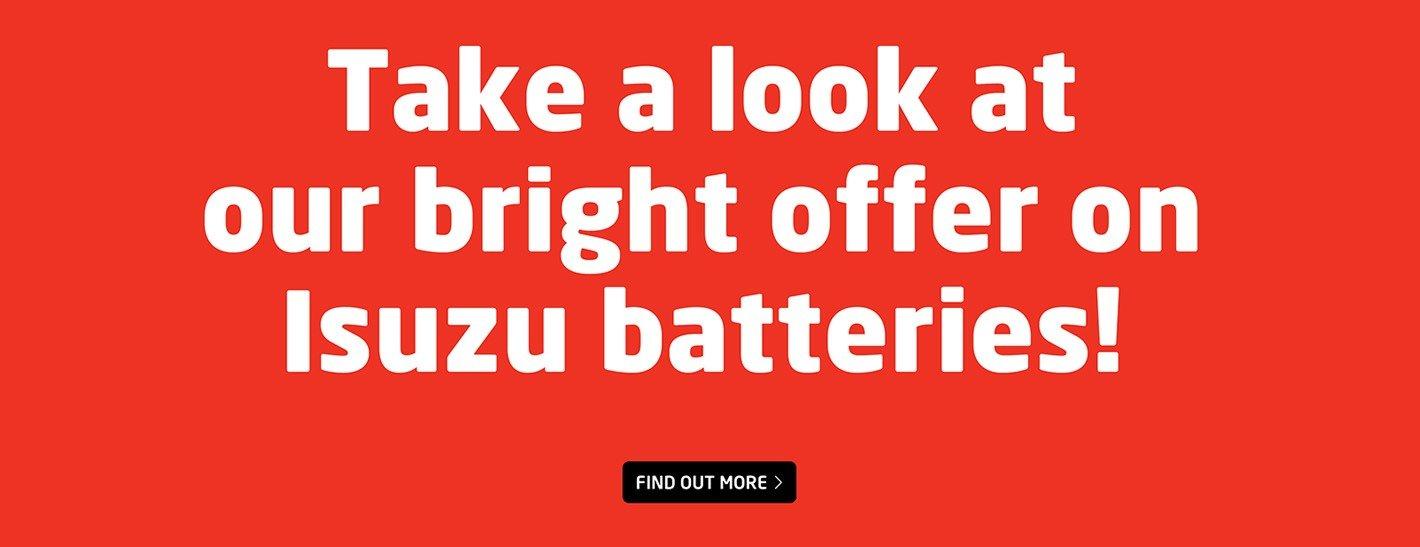 Ireland Isuzu Batteries Offer