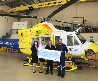 RACQ LifeFlight Rescue receives vital funding from #1 Choice for Locals, Ken Mills Toyota image