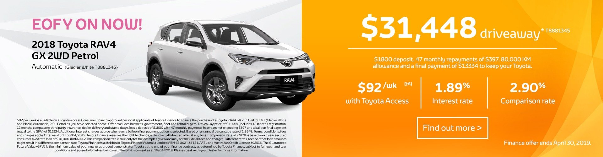 Cardiff Toyota Finance Offer