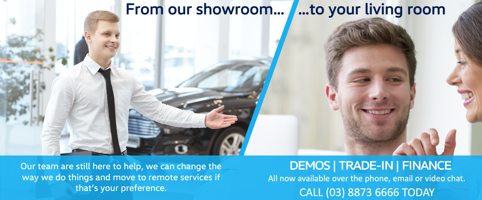 your living room, now our showroom