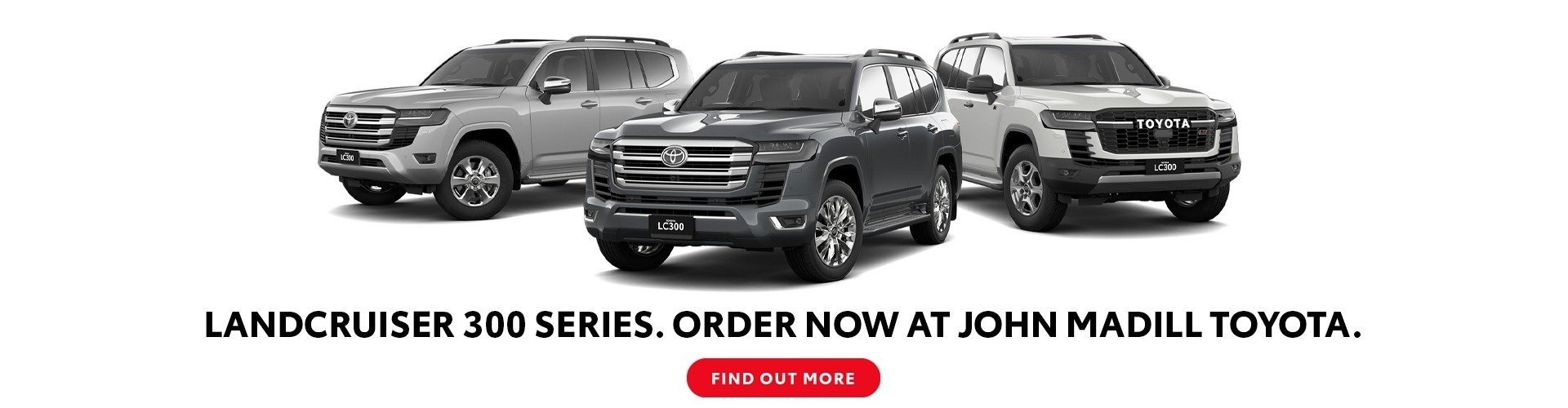 Find out more on the LandCruiser 300 series at John Madill Toyota
