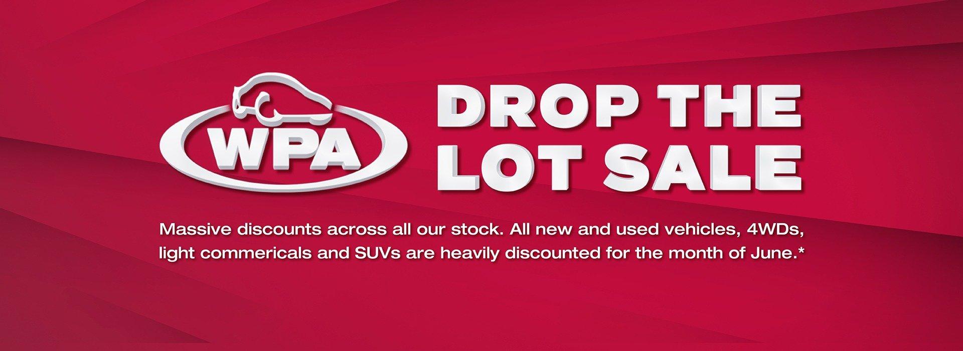 Western Plains Mitsubishi   Drop The Lot Sale Banner