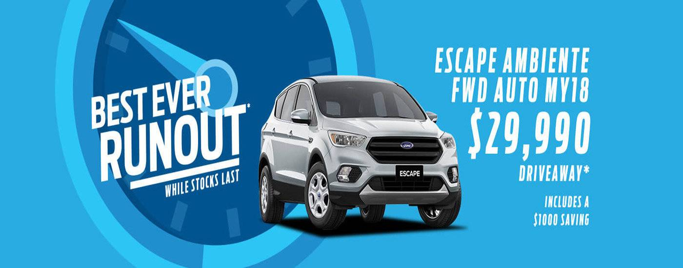 Best Ever Runout | Escape Ambiente FWD Auto MY18 $29,990