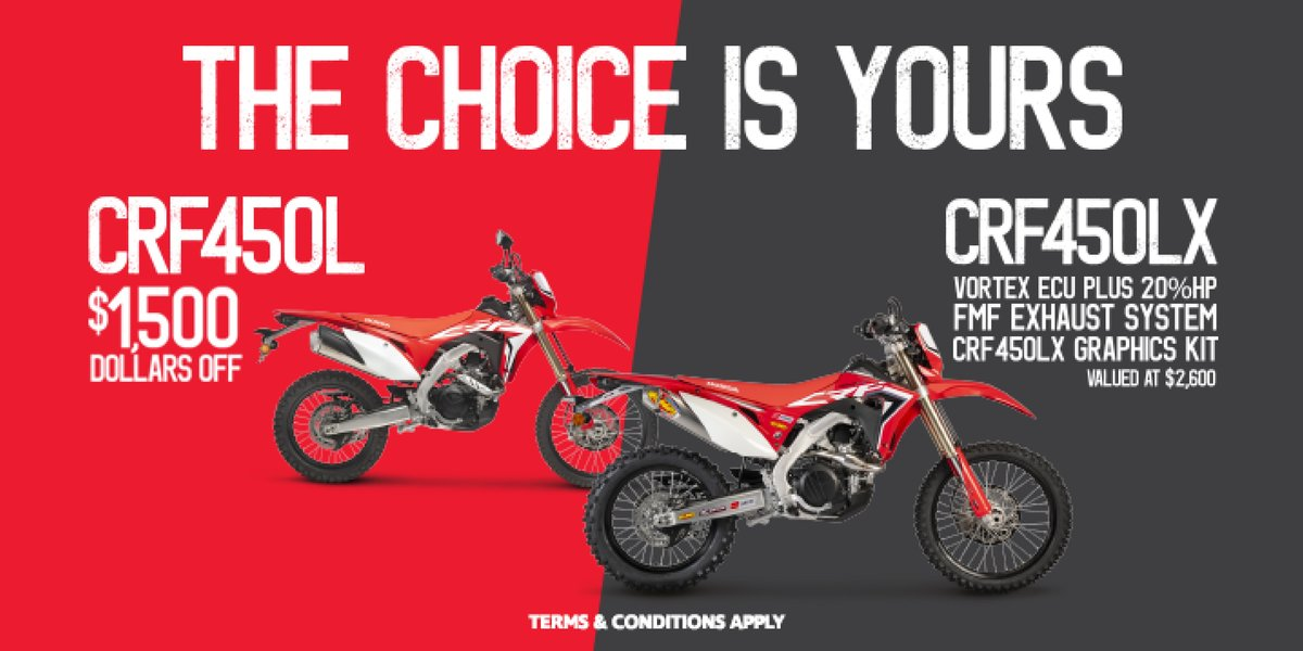 blog large image - The Choice is Yours! Introducing the Honda CRF450L/CRF450LX