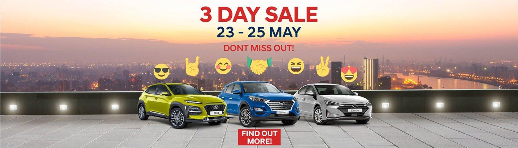 Mantello Hyundai - 3 Day Sale