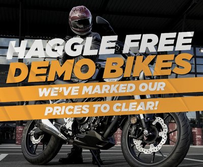 Haggle Free Prices on Demo Bikes at TeamMoto image