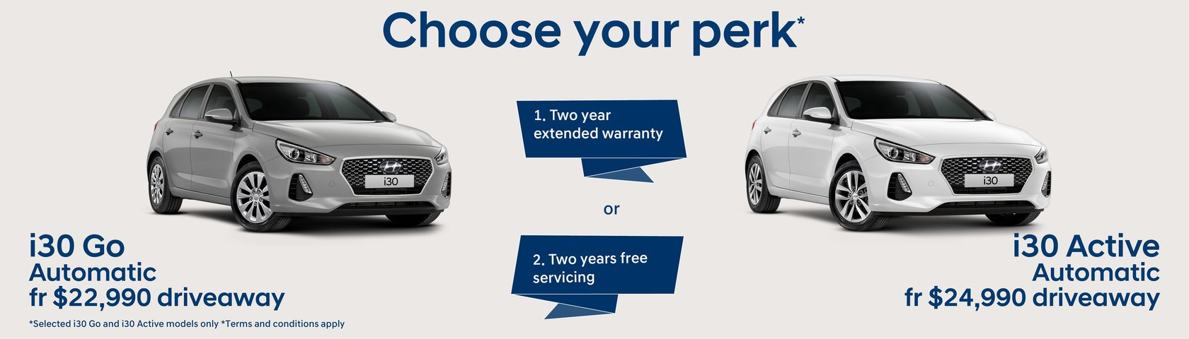 Choose your perk on selected i30's