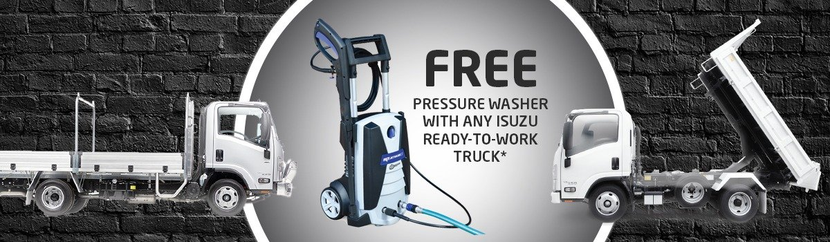 Free SP140 Pressure Washer with any Isuzu Ready-to-Work Truck* Large Image