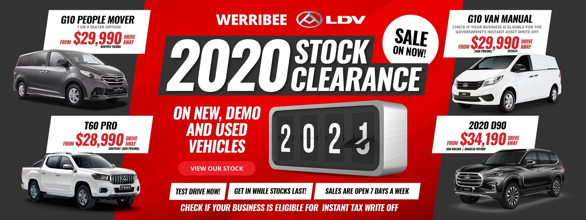 Werribee LDV - Stock Clearance