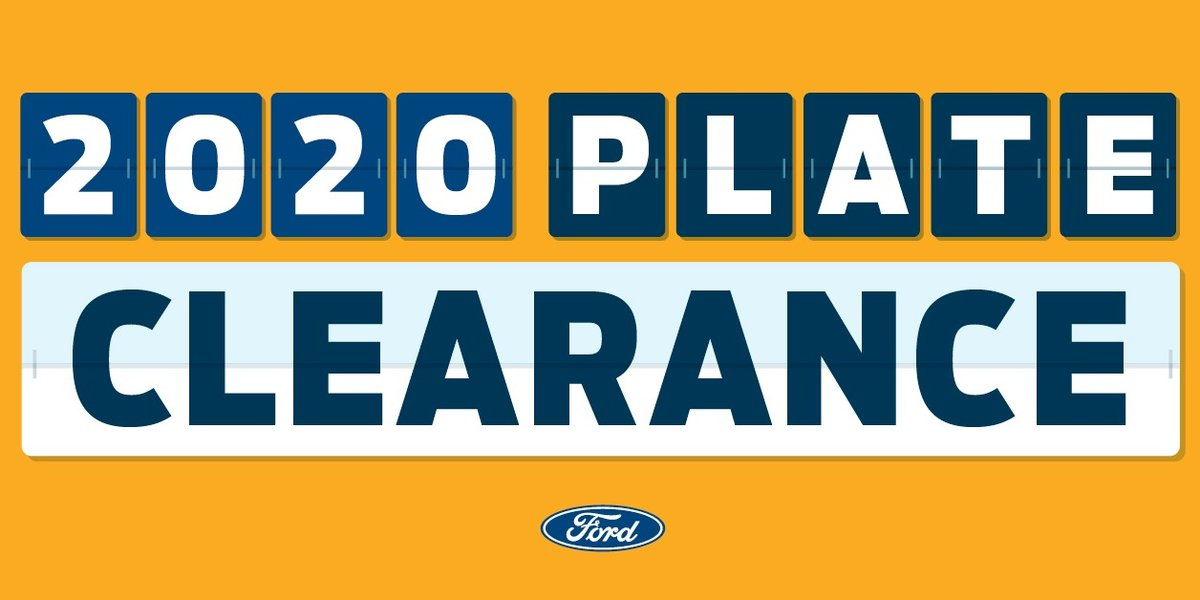 blog large image - 2020 Plate Clearance on NOW!