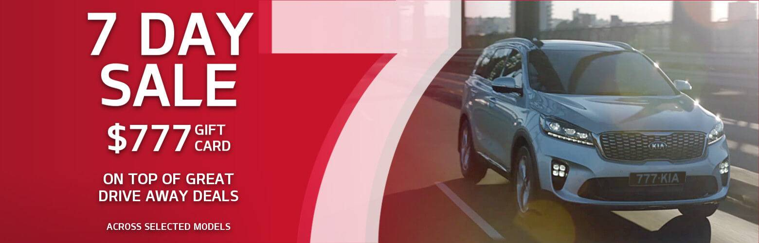 Kia 7 Day Sale Offer