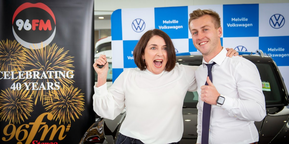 blog large image - Radio prize winner collects her new T-Roc from us!