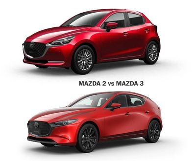 Mazda 2 vs Mazda 3 image