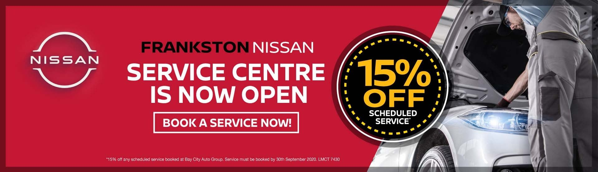 Frankston Nissan - Service is open
