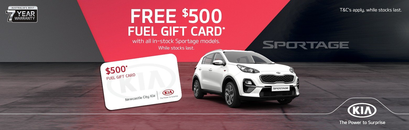 Newcastle City Kia $500 fuel gift card