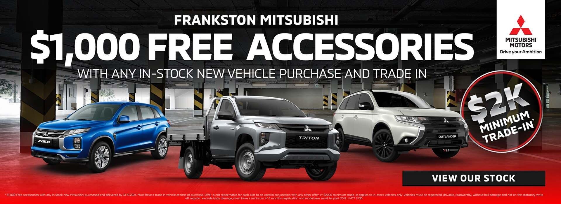 Frankston Mitsubishi - Accessories Offer
