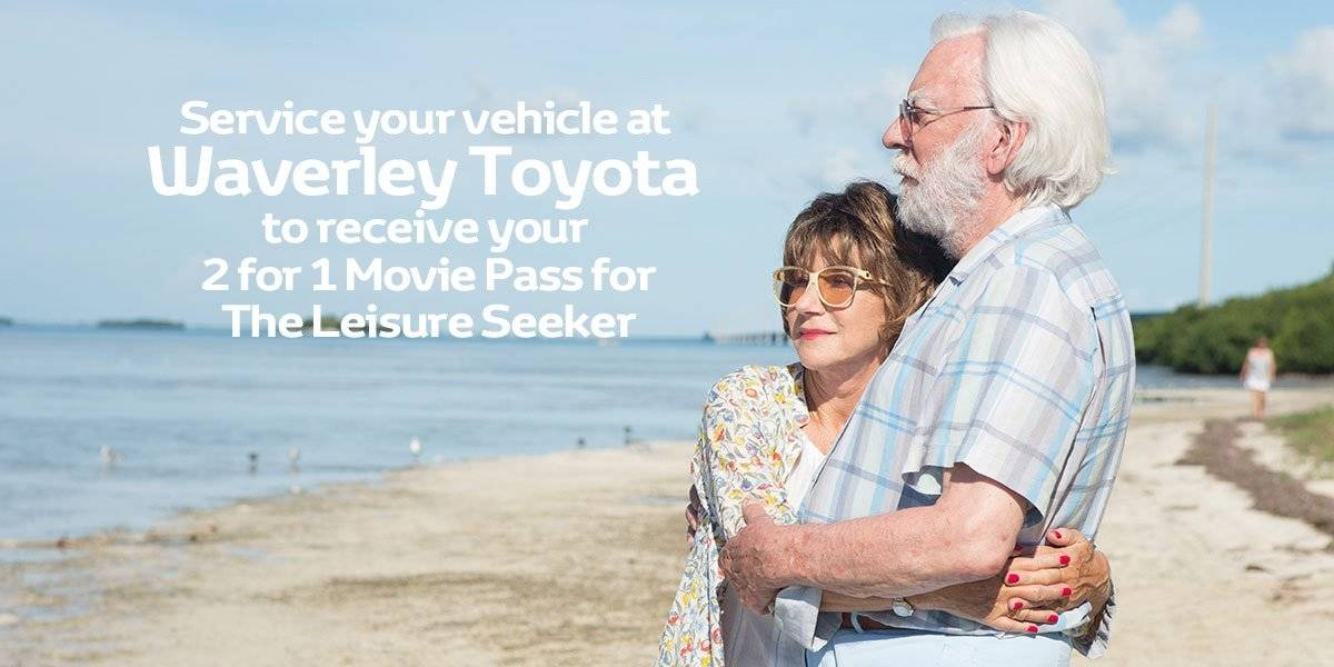 blog large image - SERVICE at Waverley Toyota to receive your 2 for 1 Movie Pass to see THE LEISURE SEEKER