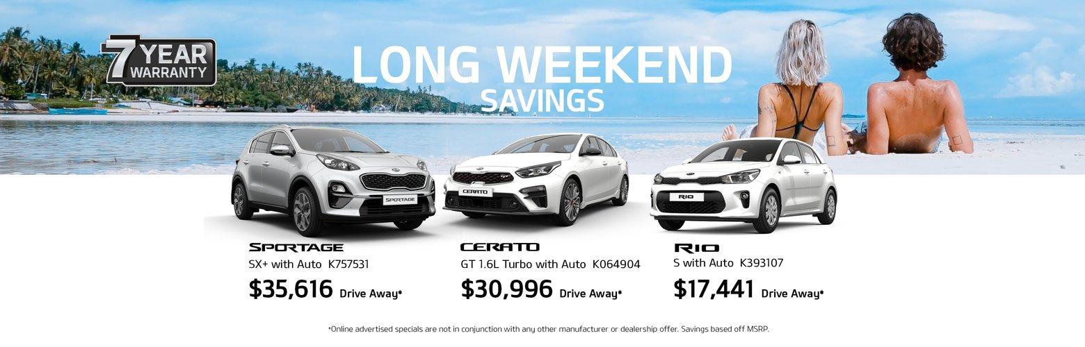long weekend savings
