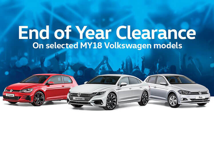 MY19 Model Clearance on selected Volkswagen Passenger vehicles at Pickerings Volkswagen, Townsville QLD.