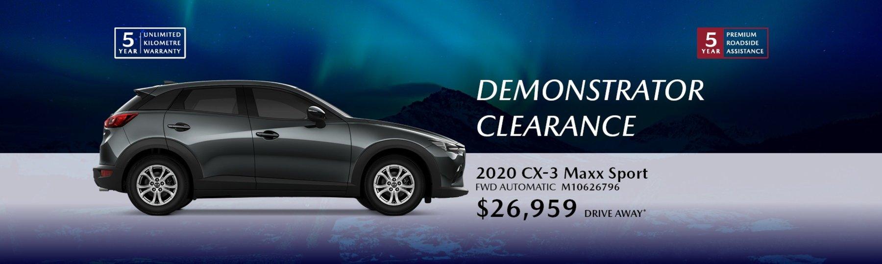 cx-3 driveaway deals