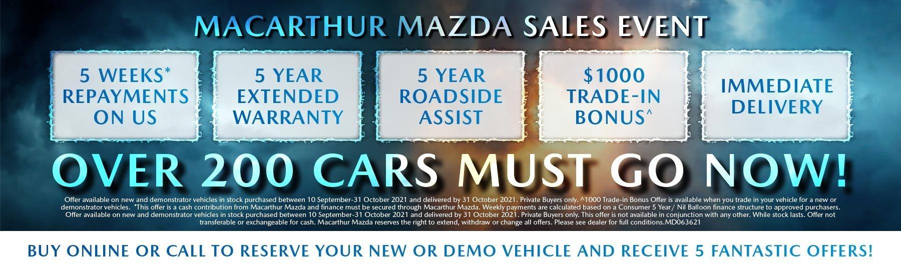 Macarthur Mazda Sale Event!