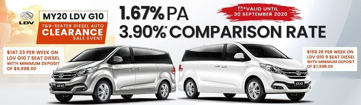 1.67% APR At 3.90% P.A.Comparison Rate Finance On New LDV G10 Large Image