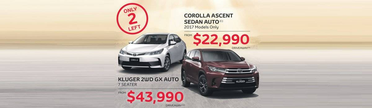Waverley Toyota's Great Value, still feeling it sale on Corolla and Kluger Large Image