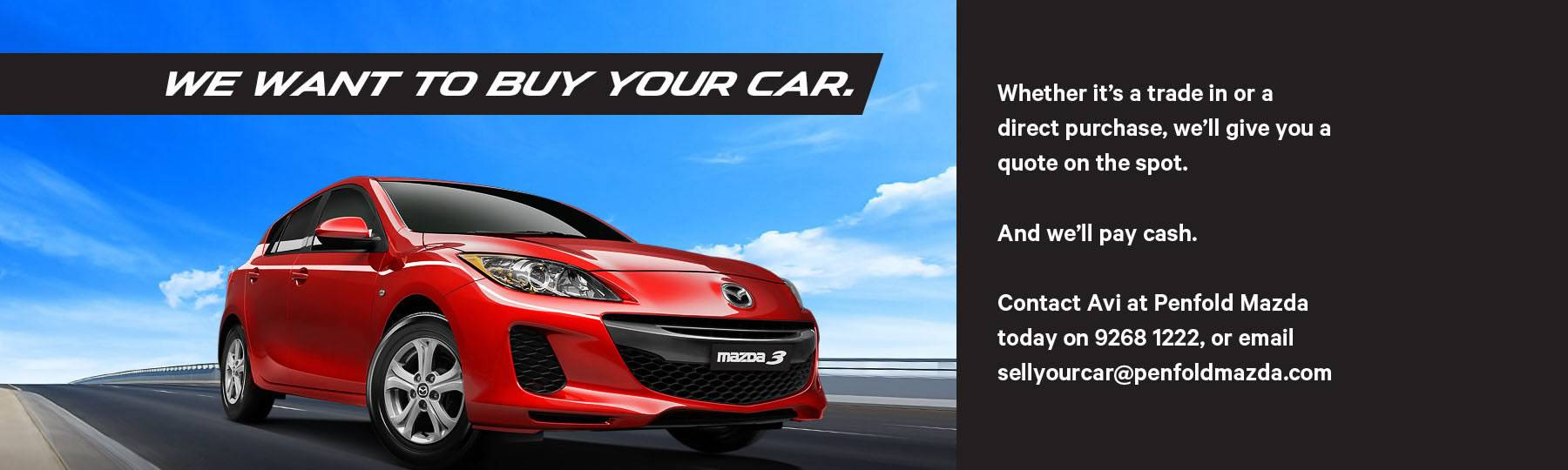 Penfold Mazda Sell Your Car
